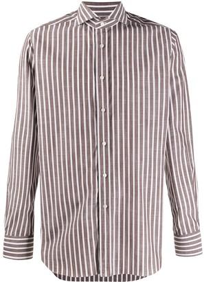 Xacus Striped Button-Up Shirt