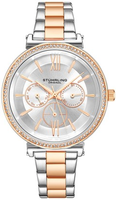 Stuhrling Original Women's Aria Two-Tone Multi-FunctionWatch