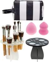 VAGA Makeup Sponges Applicators, Bag and Tree Racks Set