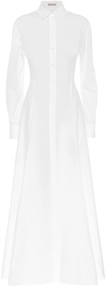 Alaia White cotton shirt dress