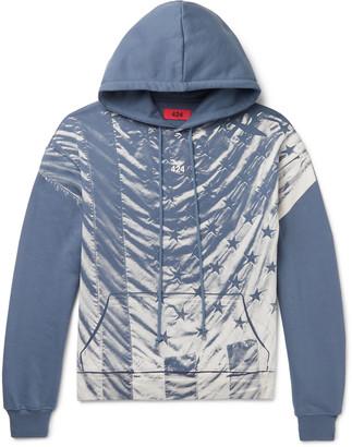 424 Printed Fleece-Back Cotton-Jersey Hoodie