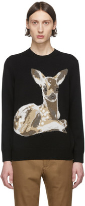 Burberry Black Fawn Crewneck Sweater