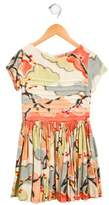 Morley Girls' Abstract Print Pleated Dress