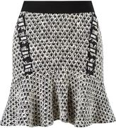 Cecilia Prado peplum knit skirt - women - Acrylic/Viscose - M