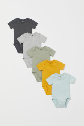 H&M 5-pack Bodysuits - Turquoise