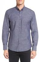 Zachary Prell Men's 'Kayhan' Regular Fit Jacquard Sport Shirt