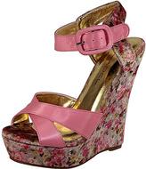 C Label Pink Nancy Wedge Sandal