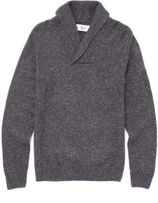 Original Penguin Marled Shawl Collar Sweater Charcoal M