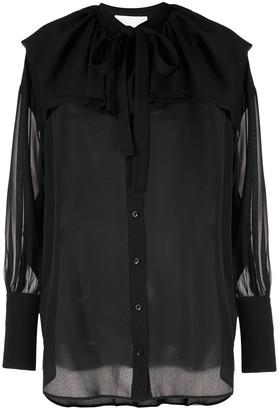 3.1 Phillip Lim Ls Silk Shirt W Ruffle Collar