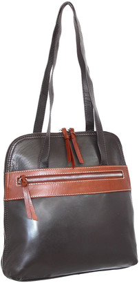Nino Bossi Handbags Women's Totebags Chocolate - Chocolate Brown Carina Convertible Leather Tote/Backpack
