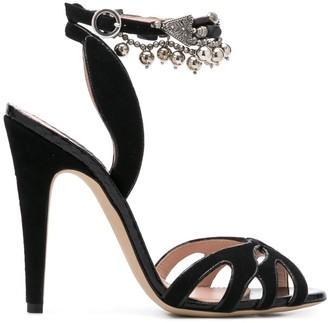 Etro Embellished Ankle Strap Sandals