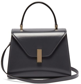 Valextra Iside Mini Leather Bag - Dark Grey