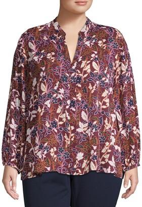 Rachel Roy Plus Floral-Print Top