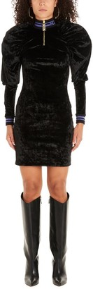GCDS Puff Sleeves Mini Dress