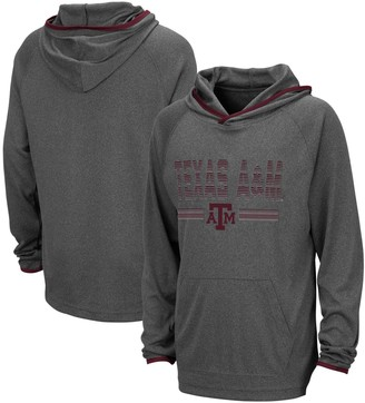 Colosseum Youth Heathered Charcoal Texas A&M Aggies Narf Raglan Pullover Hoodie