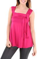 24/7 Comfort Apparel Sleeveless Side Tie Knit Tank Top