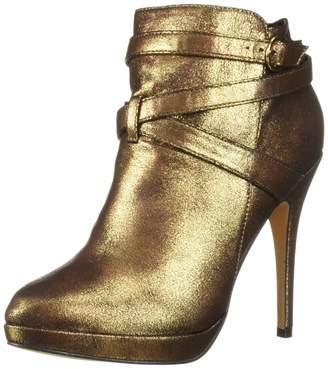 Michael Antonio Women's Peeps-met Ankle Boot Pewter 6 M US