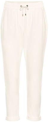 Brunello Cucinelli Cotton-blend cropped pants