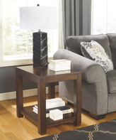 Signature Design by Ashley Rustic Brown Grinlyn Rectangular End Table