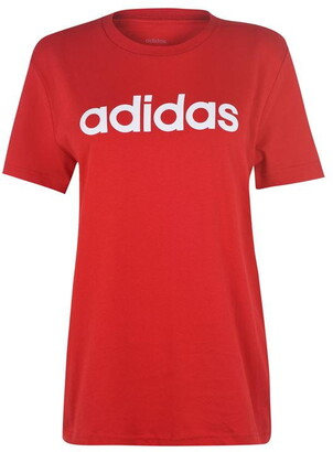 adidas Womens Essentials Linear T-Shirt Loose