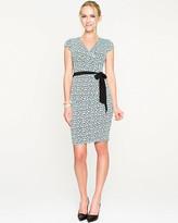 Le Château Brushstroke Print Knit Faux Wrap Dress