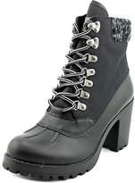 Rock & Candy Womens MILA Fabric Almond Toe Ankle Platform, FX, Size 7.5