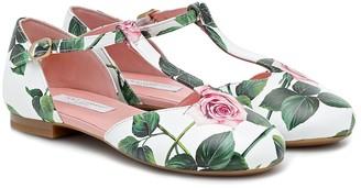 Dolce & Gabbana Kids Floral ballet flats
