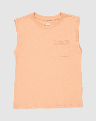 Cotton On Boy's Orange Singlets - Free Boys Textured Tank - Teens - Size 10 YRS at The Iconic