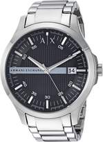 Armani Exchange A|X Men's AX2103 Analog Display Analog Quartz Silver Watch