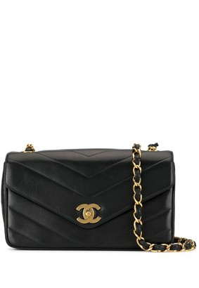 Chanel Pre Owned 1995's V Stitch CC single chain shoulder bag