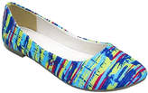 Zoey Yellow & Blue Abstract Stripe Flat