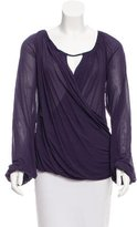 Escada Draped Long Sleeve Top