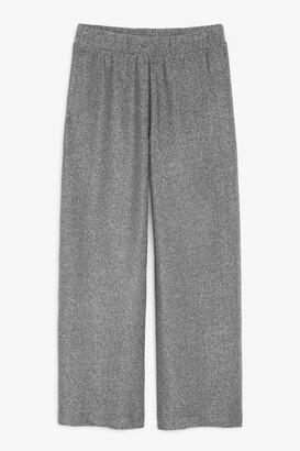 Monki Glitter high waist trousers