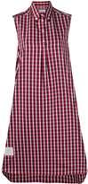 Thom Browne Checkered Sleeveless Shirt Dress