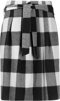 Iris von Arnim Check Pleated Skirt