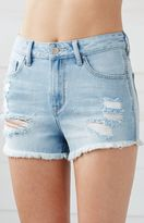 Bullhead Denim Co. New Blue Ripped High Rise Cutoff Denim Shorts