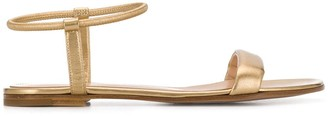 Gianvito Rossi Flat Metallic Sandals