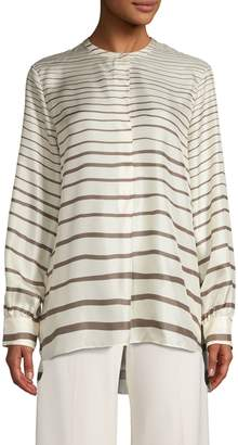 Theory Striped Silk Tunic