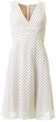 Bernshaw Sleeveless Laser Cut Evening Dress Colour: SILVER, Size: 8