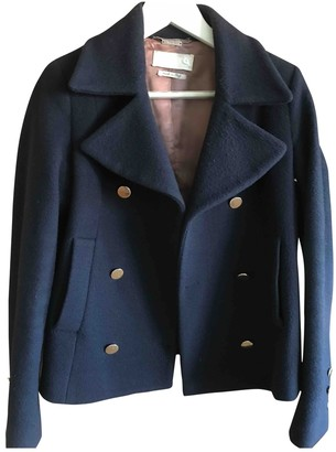 Cycle Blue Wool Jacket for Women
