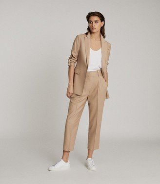 Reiss ESTHER WOOL BLEND TAILORED BLAZER Camel