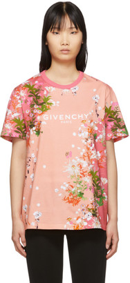 Givenchy Pink Flowers T-Shirt