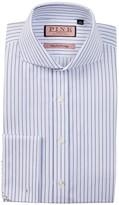 Thomas Pink Browes Slim Fit Twill Stripe Dress Shirt