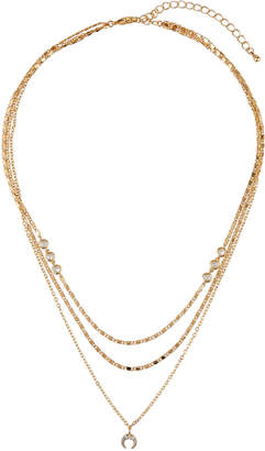 Panacea 3-Layer Mini Crystal Horn Necklace