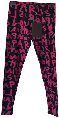 Louis Vuitton Pink Spandex Trousers for Women