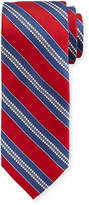 Neiman Marcus Boxed Striped Silk Tie, Red