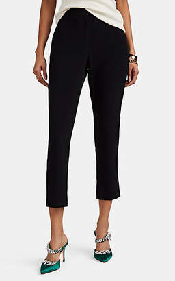 Co Women's Satin-Back Crepe Slim Crop Trousers - Black