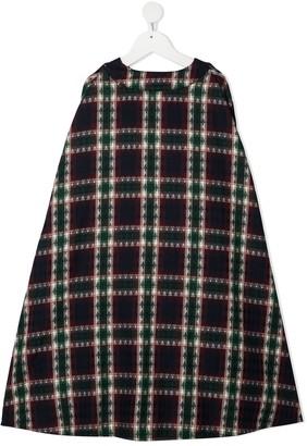 Infantium Victoria Check Cotton Cape Dress