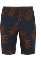 Vince Leaf-print cotton-poplin shorts