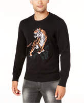 INC International Concepts Men's Intarsia Knit Tiger Sweater, Created for Macy's